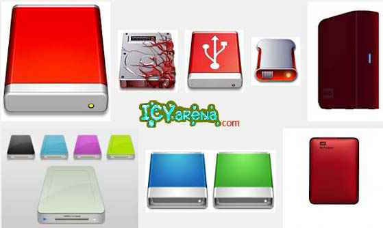 How to change hard disk drive icon