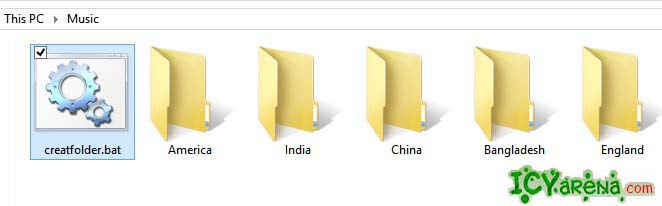 How to create many folders by one click